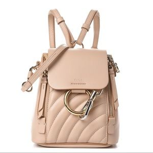 Chloe' calfskin faye mini backpack